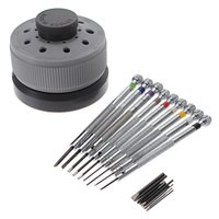 Wholesale Top Quality Screwdrivers - Wholesale-Top Quality 9Pcs 0.5mm-2.5mm Watch Glasses Flat Blade Slotted Screwdriver Repair Tools Set Lowest Price