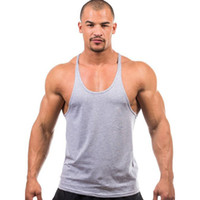 Cotton Herren T-Shirts Mens Tank Tops Shirt 2015 Hot Summer Bodybuilding Equipment Fitness Fitnessstudio Stringer Tank Top Sportbekleidung