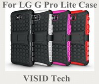 Wholesale Optimus G Covers Stand - Free Shipping In Stock TPU&PC Heavy Duty armor stand case For Optimus G Pro Lite D680 D686 for LG Cover Skin Bag Factory Outlet