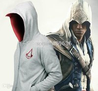 Wholesale Boys Costumes Assassins Creed - Wholesale-Assassin's Creed Conner Kenway Coat mens hoodies and sweatshirts men boys children Assassins Creed cosplay costume sports