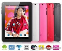 Wholesale 9inch Pink Cheap Tablets - dhl 30PCS free cheap 9inch A23 Android 4.4 Kitkat Tablets Tablet PC DDR3 1GB RAM 8GB ROM A23 WIFI Dual Camera OTG G-SENSOR BLUETOOTH Cheaper