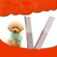 Wholesale Head Groom - Stainless Steel Pet Brush Grooming Comb Brush High Quality Double Head Dog Cat Trimmer Comb Brush