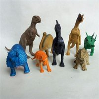 Wholesale Large Plastic Dinosaur Toy - 8 pcs set Hot simulation dinosaur toy large mix of static plastic dinosaur model Model Toy Christmas gift Free shipping