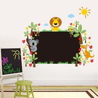 graphic animal classic Australia - New Cute Animals Blackboard Wall Art Mural Sticker Kids Boys Girls Room Nursery Wall Decor Poster Graphic Cartoon Chalkboard Wall Applique