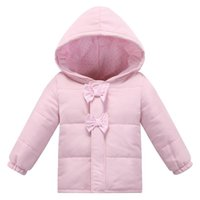 Wholesale Soft Infant Fashion Autumn Winter European Style Baby Cotton Jacket Brand Pink Baby Girl Coat Newborn Clothing Bebe Clothes