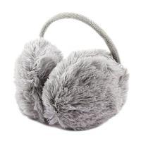 ingrosso fascia invernale della pelliccia del faux-All'ingrosso-Unisex Winter Headband Fluffy Faux Fur Ear Pad posteriore paraorecchie grigio