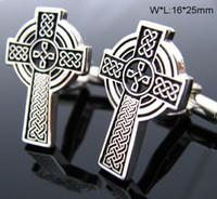 Wholesale Iron Man Cuff Links - Santa Croce Iron Cross Cufflinks Men Shirt Cuff Luxury Personalized Cuff Link cf470
