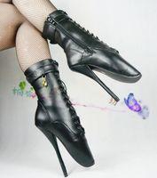 туфли на высоком каблуке фетиш оптовых-Секс-игрушки БДСМ см игры играть фетиш бедра высокие сапоги бондаж подковы каблуках специальные сексуальные туфли на высоком каблуке балет цель бесплатная доставка
