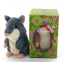 Talking Hamster Repite lo que dices The Cute Plush Animal Toy Electronic HamsterTalking Toys Mouse Pet Plush DHL libre OTH092