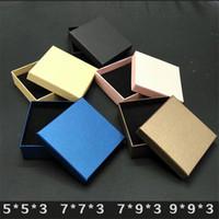 caixa de jóias kraft venda por atacado-Caixa de papel kraft pequenas Caixas De Presente Para Caixa De Embalagem De Jóias Brincos anel caixa de embalagem logotipo personalizado 7 * 9 * 3 cm