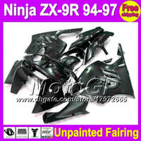 Wholesale 94 Zx9r Fairing Kit - 7gifts Unpainted Full Fairing Kit For KAWASAKI NINJA ZX9R 94-97 ZX 9R ZX-9R 94 95 96 97 1994 1995 1996 1997 Fairings Bodywork Body