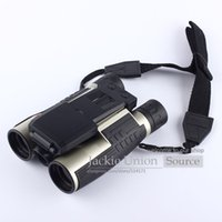 Wholesale Digital Video Camera Binoculars - Binoculars Built-in Digital Telescope Camera Video Camera Cam LCD Display 12X Zoom Lens NATURE SPORTS CONCERTS DT07II Neck Strap
