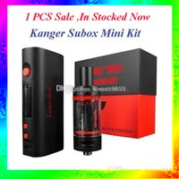 Wholesale E Cigarettes Free Shipping - 1PCS Sale Kan-ger Subox Mini Starter kit Hot Sale 50W 0.3ohm e cigarette Vapor VS Subtank mini free shipping