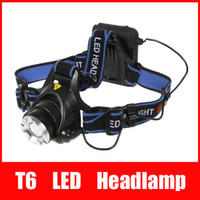 Wholesale Headlamp Cree Aa - Top Quality 2000 Lumens Headlamp CREE XM-L T6 LED Headlight For Head Lamp Torch LED Flashlight Head Light by 4 AA battery