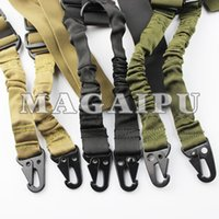 Wholesale Dual Gun Carrying - Tactical Sling Dual-Point 2 Swivels Strap Multi Mission Adjustable Hunting Shooting Swivel Rifle Carry Airsoft Sling Tactical Gun Sling
