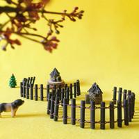 Wholesale Wood Gnomes - sale~20Pcs wood round fence bar  fairy garden gnome moss terrarium home decor crafts bonsai bottle garden miniatures c077-78