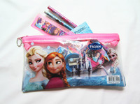 Wholesale factory price Frozen stationery set for Students Office School Supplies Pencil Cases Frozen Bags Frozen Ruler Pencils