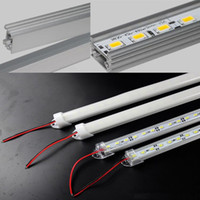 """Wholesale T8 Led Housing - Hard LED Strip 5630 SMD Cool Warm White Rigid Bar 72 LEDs 3500 Lumen LED Light With """"u"""" Style Shell Housing With End Cap + Cover"""