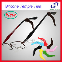 Wholesale Eyeglasses Temples - Wholesale-20pairs New High quality Sunglasses eyeglasses silicone ear hook Anti Slip temple tip holder glasses accessories