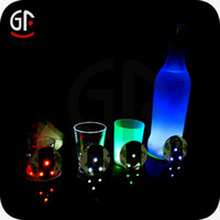 10pcs par lot LED Bottle Coaster LED Sticker Light idéal pour les clubs de fête et de nuit
