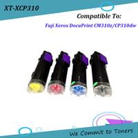 cartuchos compatibles con xerox al por mayor-Xerox CP310, Cartucho de tóner compatible para Fuji Xerox DocuPrint CM310z / CP310dw, OEM: CT202677 - CT202680 / CT202681 - CT202684