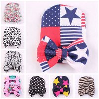Wholesale Knit Owl Hat For Newborn - Xmas Neonatal baptism cap Owl stars Baby Hat Keep Warm Double Layer Beanie Hats bow princess Knitted Cotton Caps for 0-6M Baby MZ9104