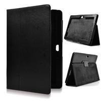 Wholesale Asus Vivotab Case - HOT SALE Flip Litchi Grain Line PU Leather Stand Back Cover Case For Asus VivoTab RT TF600T