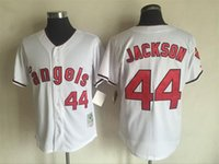 Wholesale New Jersey Yankees - New 1951 Yankees Mickey Mantle Throwback Jersey #44 JACKSON White Stripe Home Stitched Baseball Jerseys Size 40-56 Mix Order All Jerseys
