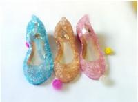 Wholesale Latin Dance Shoes Brands - Free shipping Frozen Snow Elsa children shoes kids girls princess 2017 brand sandals for girl dress latin dance jelly shoes