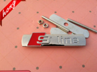 Wholesale Car Grill Emblems - Free shipping S LINE sline Metal 3D Car Front Hood Grill Badge Grille Emblem Logo stickers for A1 A3 A4 A5 A6