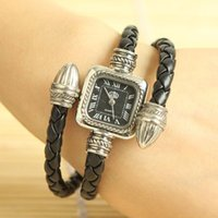 Wholesale Antique Snake Watch Bracelet - Wholesale-Antique Glod Snake Style Fashion Roma Vintage Women Bracelet Watches Women Luxury Square Quartz Wristwatch relogio free shipping