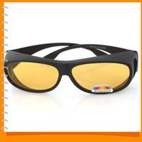ingrosso occhiali da bicicletta gialli-Occhiali da vista polarizzati UV 400 PC per occhiali da vista Occhiali da vista per giorno e notte Occhiali da sole con lenti gialle per la guida in bicicletta