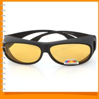 Wholesale Night Goggles For Driving - UV 400 PC Polarized Night Vision Driver Glasses Goggles Day and Night Sunglasses with Yellow Lens for Driving Cycling Fishing