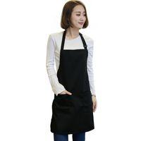 Wholesale art aprons for sale - Piece Women Apron With Pockets Restaurant Kitchen Cooking Shop Art Work Apron Black