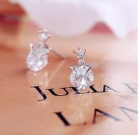 Cristal Stud femme strass mariage Boucles d'oreilles étoile pas cher Earings New 2015 Fashion JewelryY051