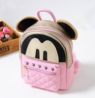 Wholesale Cute Korean Products - New Products 2015 Children Shoulders Backpacks Cute Mickey Catoon Modelling Kids Bags Fashion Leisure Schoolbag For Korean Girls K241 XQZ