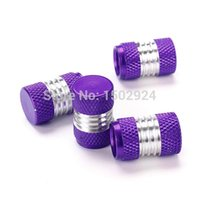 Wholesale Valve Order - GPS 4pcs ALUMINUM Alloy Car Truck Motor Wheel Tire Valve Stem Caps Dust Cover Purple FREE SHIPPING order<$18no track