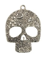 Wholesale Scarf Jewelry Skull - Factory Direct Sale Traditional Charm Skull Silver Color Jewelry Pendant Scarves 2015 New Women Diy Charms Necklace Findings Scarf Hm-009