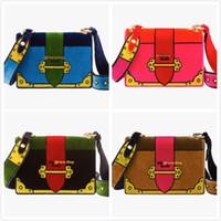 Wholesale Velvet Bags Multi Color - 33 different versions Luxury Bag Prad* velvet bag Cahier Bag High Fashion Women Embroidered velvet shoulder bags Free Shipping