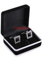 Wholesale cufflink boxes wholesale - 100pcs lot Free Shipping Hot sale Wholesale Promotion Black Velvet Cufflink Box Best gift jewelry box for Cufflinks