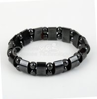 Wholesale wholesale magnetic therapy - Unisex Magnetic bracelet gifts for women Hematite Fashion Therapy Arthritis Beads Bracelet Black Free   Drop Shipping
