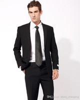 Wholesale Tuxedo Lapel Types - custom-made - Cultivate one's morality type formal occasions Two single-breasted suit (Jacket+Pants+Tie)