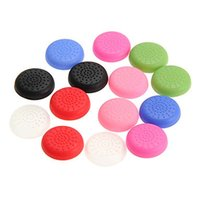 Wholesale Play Console Games - 8 Colors Analog Controller TPU Thumb Stick Grips Cap Cover For Sony Play Station PlayStation PS 4 PS4 console jogos Game Accessories