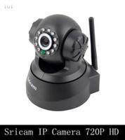 Wholesale Mini Ip Pan Tilt Camera - DHL Sricam IP Camera 720P 1280X720 HD P2P Mini Pan Tilt PT WiFi Wireless Network CCTV Camera Security Surveillance Camera Baby Monitor
