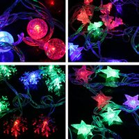 Wholesale Snow String Lights - Holiday Decorations Christmas LED Lights 2017 String Copper Colorful Lights Flash Outdoor Waterproof String Lights Christmas Tree Snow Free