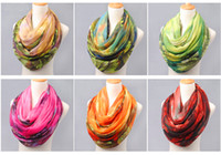 Wholesale Elegant Long Silk Scarfs - Silk Scarves Scarfs Wraps Infinity Scarf Scarves New Latest Popular Fashion For Women Elegant Long Chiffon Scarves Ink Painting Soft Silk S