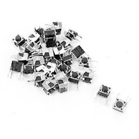 Wholesale Pcb Tactile Switches - Wholesale-6x6x5mm 2 Pin PCB Right Angle Momentary Tactile Push Button Switch 30 Pcs