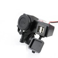 Wholesale Dual Power Outlet Adapter - New Motorcycle 12V power outlet USB Adapter Cigarette Lighter Dual Port Integration Outlet Socket 5v 2.1A usb car power charge socket