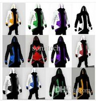 Wholesale Assassins Creed Costumes For Men - Wholesale-assassins creed jacket Hoodie Conner Kenway costume anime figure assassins creed cosplay for man kid carnival assassin's cree