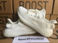 Wholesale Outdoor Fluorescent - DHL Free Cp9366 V2 Cream White 350 Fluorescent Factory V2 36-48 us13 Real Boost 350 V2 Boost With Box Socks Kanye West Running shoes
